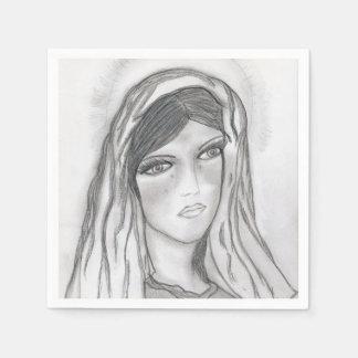 Mary Crying Paper Napkin