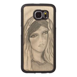 Mary Crying Wood Phone Case
