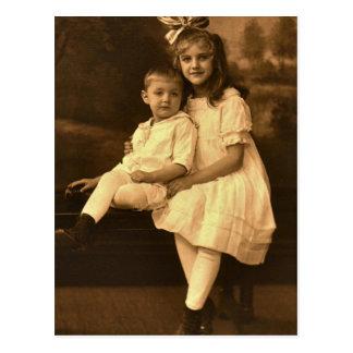 Mary Elizabeth & Stephen Stanley SECHRIST, 1918 Postcard