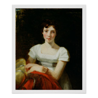 Mary Freer, 1809 (oil on canvas) Poster