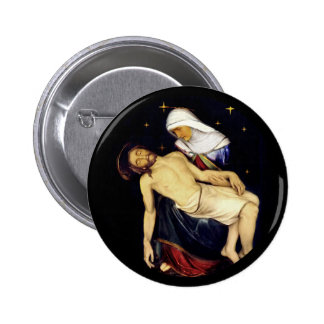Mary Holding Jesus 2 Inch Round Button
