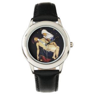 Mary Holding Jesus Wristwatch