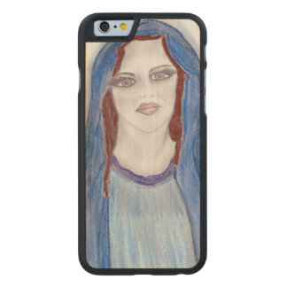 Mary In Blue Carved Maple iPhone 6 Case