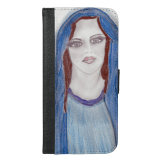Mary In Blue iPhone 6/6s Plus Wallet Case