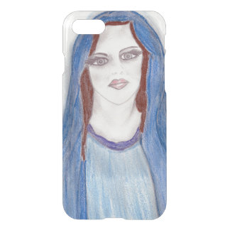 Mary In Blue iPhone 8/7 Case