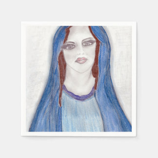 Mary In Blue Paper Napkin