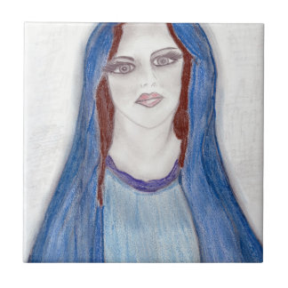 Mary In Blue Tile