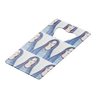 Mary In Blue Wallet Bottle Opener