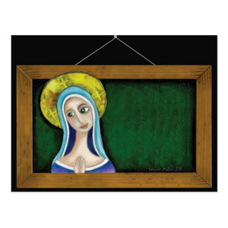 Mary in Frame Postcard