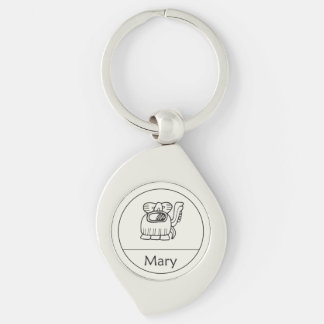Mary in Mayan Keychain
