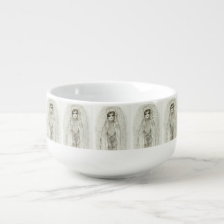 Mary in the Grotto Soup Bowl With Handle
