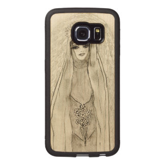 Mary in the Grotto Wood Phone Case