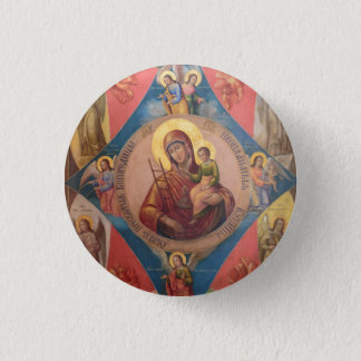 Mary, Jesus, And Angels 1 Inch Round Button