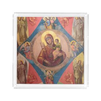 Mary, Jesus, And Angels Acrylic Tray