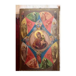 Mary, Jesus, And Angels Acrylic Wall Art
