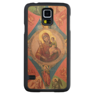 Mary, Jesus, And Angels Carved Maple Galaxy S5 Case