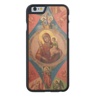 Mary, Jesus, And Angels Carved Maple iPhone 6 Case