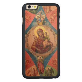 Mary, Jesus, And Angels Carved Maple iPhone 6 Plus Case