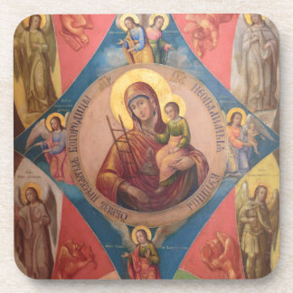 Mary, Jesus, And Angels Coaster