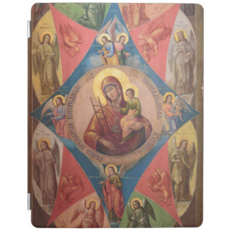 Mary, Jesus, And Angels iPad Cover