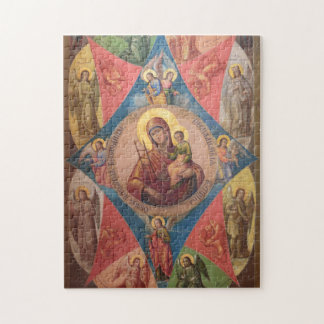 Mary, Jesus, And Angels Jigsaw Puzzle