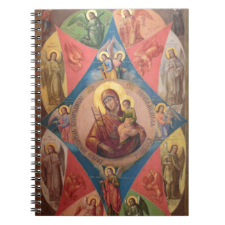 Mary, Jesus, And Angels Notebook
