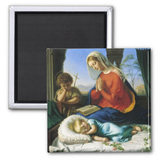 Mary, Jesus, & John The Baptist Magnet