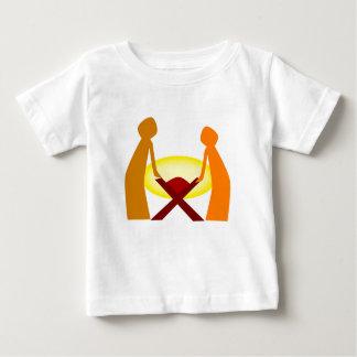 Mary Joseph And Baby Jesus Baby T-Shirt
