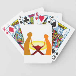 Mary Joseph And Baby Jesus Bicycle Playing Cards