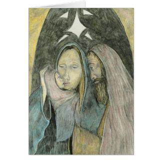 Mary Joseph And Baby Jesus Religious Christmas Card