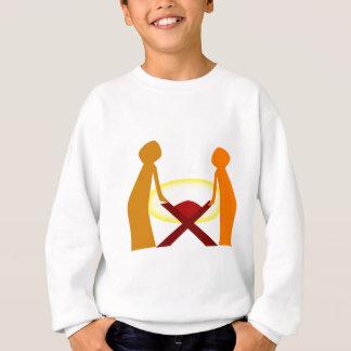 Mary Joseph And Baby Jesus Sweatshirt