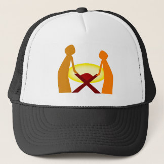 Mary Joseph And Baby Jesus Trucker Hat
