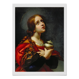 Mary Magdalene, 1660-70 (oil on canvas) Posters