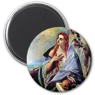 Mary Magdalene 2 Inch Round Magnet