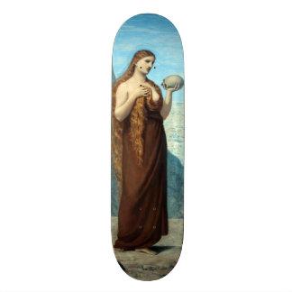 Mary Magdalene in the Desert by Puvis de Chavannes Skate Boards