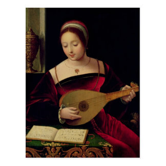 Mary Magdalene Playing the Lute Postcard