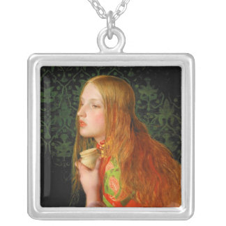 Mary Magdalene ~ Sandys 1858 Painting Silver Plated Necklace