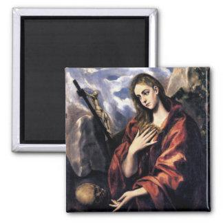 Mary Magdalene Square Magnet