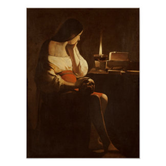 Mary Magdalene with a night light, 1630-35 Poster