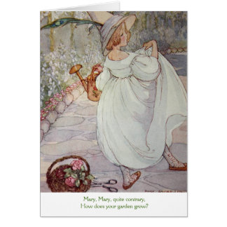 Mary, Mary Quite Contrary - Card