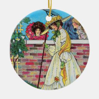 Mary, Mary, quite contrary Ceramic Ornament