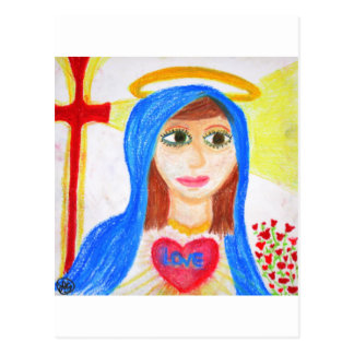 Mary, Mother of Love Postcard