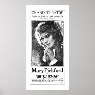 Mary Pickford 1921 vintage movie ad poster