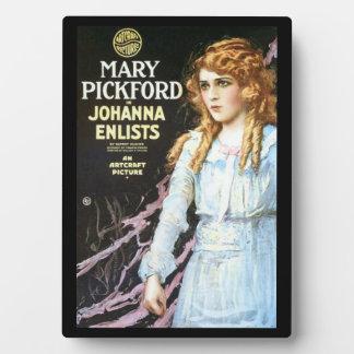 Mary Pickford Custom Tabletop Plaque