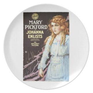 Mary Pickford Johanna Enlists 1918 movie poster Plate