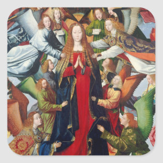 Mary, Queen of Heaven, c. 1485- 1500 Square Sticker