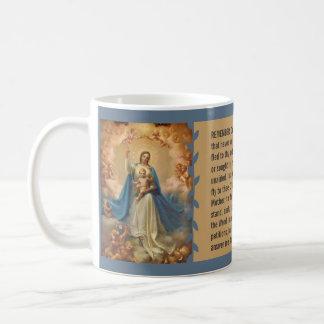 Mary Queen of Heaven Jesus Angels Memorare Coffee Mug