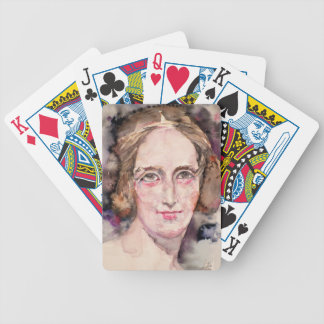 mary shelley - watercolor portrait bicycle playing cards