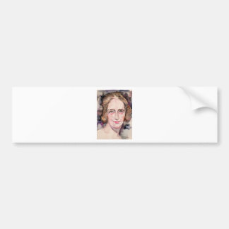 mary shelley - watercolor portrait bumper sticker
