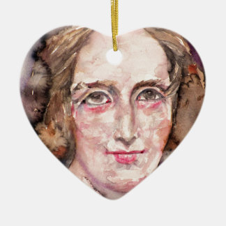 mary shelley - watercolor portrait ceramic ornament